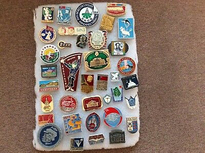 USSR  Russian Soviet Pin Badges -   MIXED