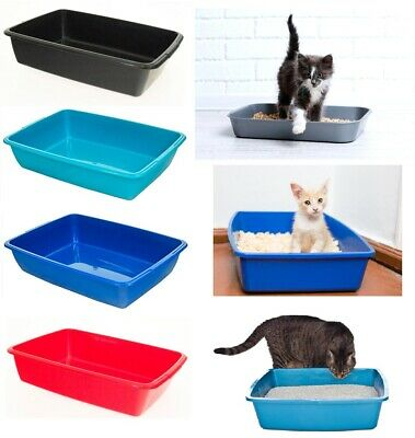 Cat Kitten Puppy Dog Pet Toilet Potty Litter Plastic Open Training Tray UK Made