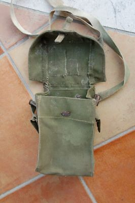 Porta Maschera  Antigas Bisaccia Sacca  Inglese Light Gas Mask Ww2  Guerra 1944