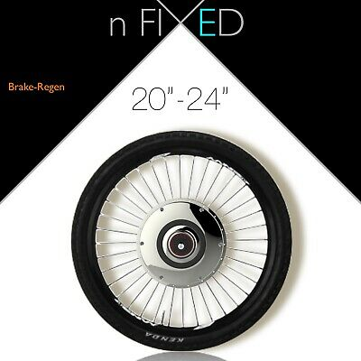 "London FIXED GEAR 'All-in-One 20"" Smart Wheel' Zehus electric conversion kit"