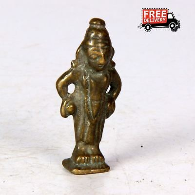 1800's Antique Vintage Indian Hindu God Figure  Old Statue Brass Hand Made 1407