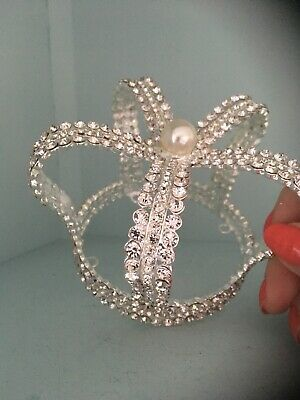 Silver Rhinestone Crown . Childs Crown . Smaller Crown . Photo Shoot Cake Smash