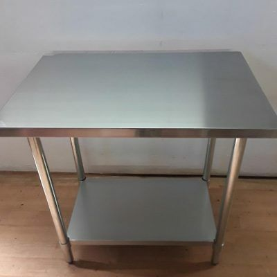 New  Commercial Commercial Stainless Steel Table Worktop Food Prep Shelf
