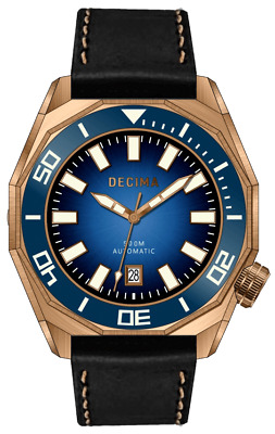 ✅ Decima Scylla 500M Blue Dial Bronze Diver International Shipping Usa Seller