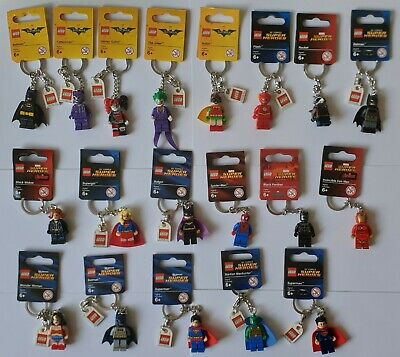 Lego Iron Man/Spiderman/Flash/Batman/Joker - Superheroes (Pick Your Keyring)