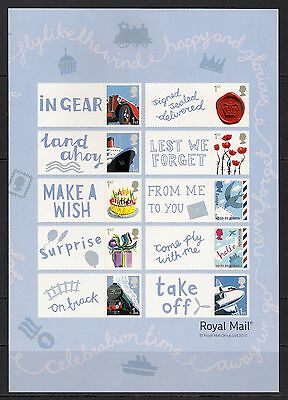 GB 2010 sg LS70 - For All Occassions - Half Smiler Sheet MNH