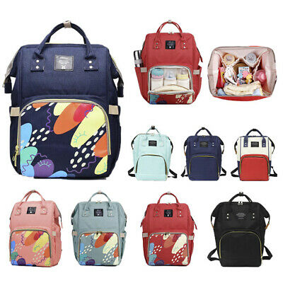 Multifunctional Large Mummy Nappy Diaper Bag Baby Travel Changing Backpack AU