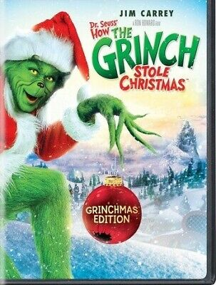 How The Grinch Stole Christmas DVD (region 1 us import) USED, IN GOOD CONDITION.
