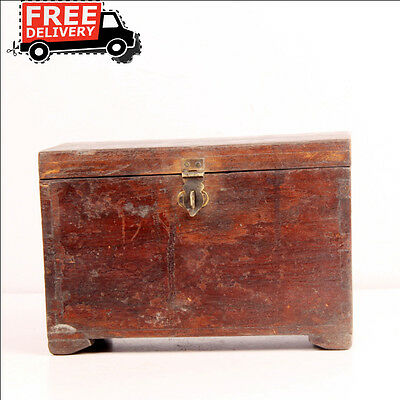 Antique Hand Carved Big Wooden Tribal Money Collecting Box 9 Cpmpartments RR