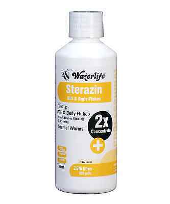 Waterlife Sterazin Treats Gill and Body Flukes  & Parasite Cure 500ml Bottle