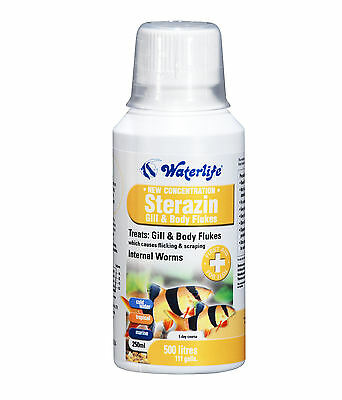 Waterlife Sterazin Treats Gill and Body Flukes & Parasite Cure 250ml Bottle