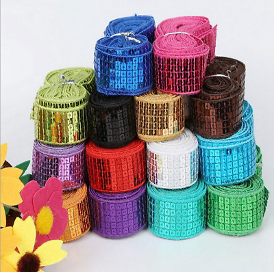 20 Yards  5 rows of sequins lace decoration Sewing Clothing accessories 2.5cm