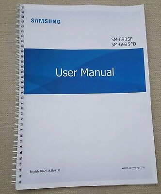 Printed Samsung Galaxy S7 Edge Instruction Manual / User Guide SM-G935 183 pages