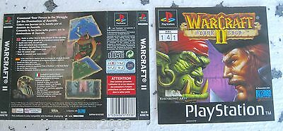 Warcraft Ii (1997) Playstation 1 Cover, No Disco