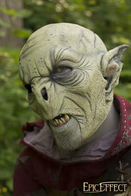 Fantasy Ochre Feral Orc Mask in Latex for Stage, Costume, Re-enactment & LARP