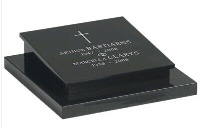 Memorial Grave Plaque Stone Engraved Headstone Large Black Granite 40x30x5cm