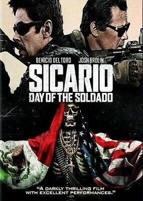 Sicario Day Of The Soldado DVD (region 1 us import) USED, IN GOOD CONDITION.