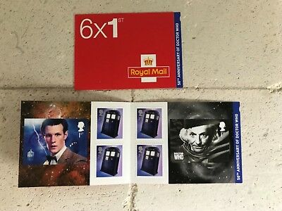 ROYAL MAIL STAMPS 50th ANNIVERSARY OF DR WHO COMMEMORATIVE  6 x 1st BOOKLET