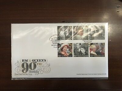 ROYAL MAIL FDC 2016 HM THE QUEEN 90th STAMP SET UNADDRESSED WINDSOR