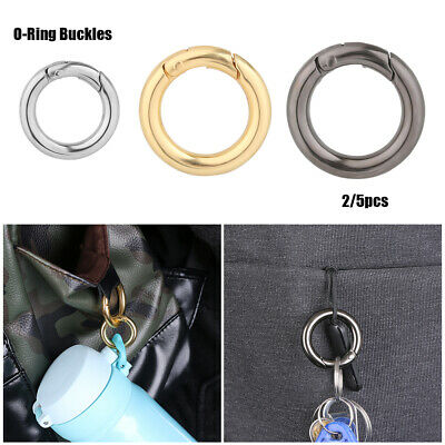Spring O-Ring Buckles Bag Belt Buckle Carabiner Purses Handbags Snap Clasp Clip