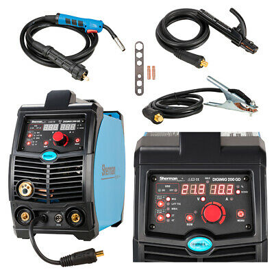 Sherman DIGIMIG 200GD synergic inverter MIG MAG MMA welder inverter