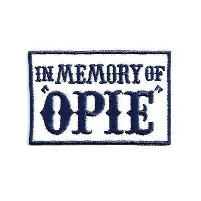 Ecusson IN MEMORY OF OPIE bleu biker Anarchy Patch Aufnäher Parche Toppa sons