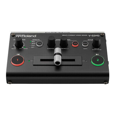 Roland V-02HD Multi Format HDMI Video Mixer Switcher Scaler Visual Effects