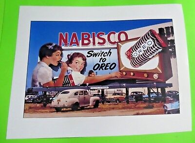 Old Nabisco Oreo Billboard Ad 1950's Vintage 8X11 Photo reprint LP141