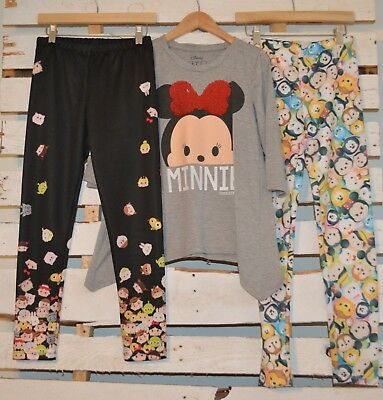 LOT Disney Minnie Frozen Toy Story TSUM TSUM Sequinned Top Leggings LN L 10 12