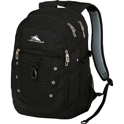 High Sierra Tactic Backpack - Black Business & Laptop Backpack NEW