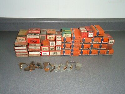 New NOS Vintage Parts Lot Ignition Points Rotors Condensers Brushes 50+ Pieces