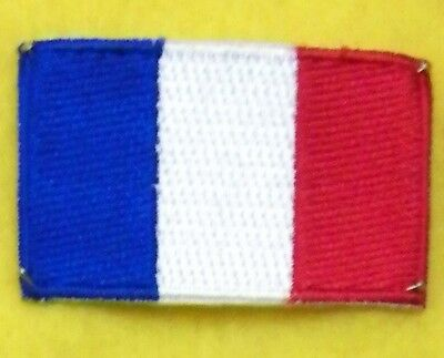TOPPA PATCH FLAG FRANCIA CM 6,5 x 4 BANDIERA FRANCESE FRENCH TERMOADESIVA FRANCE