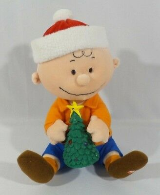 """Gemmy Animated Christmas Charlie Brown Peanuts Musical Dancing Decoration 8"""""""