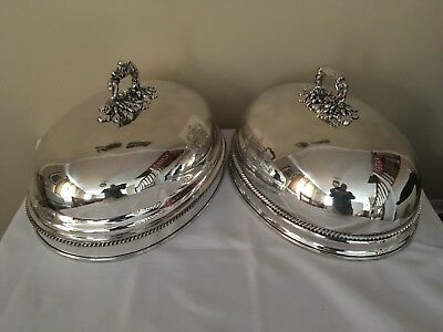George III, pair of Old Sheffield Plate meat domes, with crest for Farquharson.