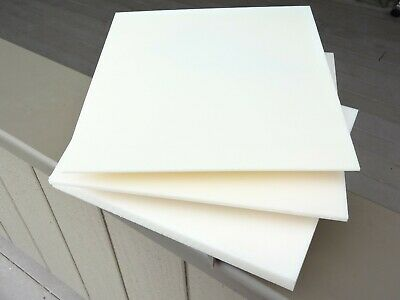 """Machine grade Natural smooth ABS plastic sheet lot 1//4/"""" box of 20 pieces"""