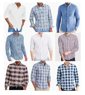 J Crew Mens Shirts Button Down Dress Casual Slim And Regular Fit New Authentic