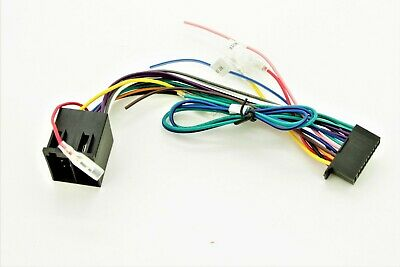 kenwood dnx/ kvt/ ddx iso 22 pin wiring harness connector adaptor lead loom