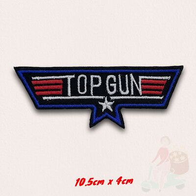 USA Navy Top Gun Iron on Embroidered Patch applique