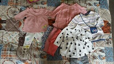 Baby Girl 0-3 m Dresses Bundle Next Mothercare M&S leggins outfit Flowers Summer