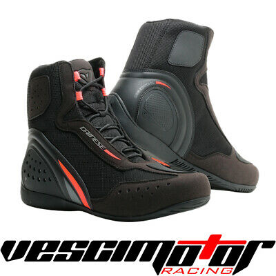 Scarpa Dainese Motorshoe D1 Air Shoes Black/Fluo Red/Antracite (Nero/RF/Ant.)