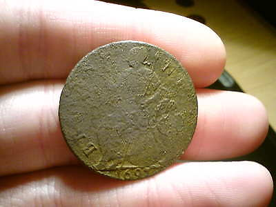 1697 William Iii British Half Penny Coin. Nice Grade