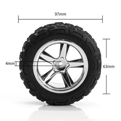 12mm Hub Wheel & Rubber Tyre(L/R) Set for 1/12 RC High Speed Car Replacement