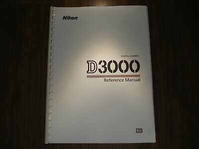 ~PRINTED~ Nikon D3000  User guide Instruction manual A4 or handy A5