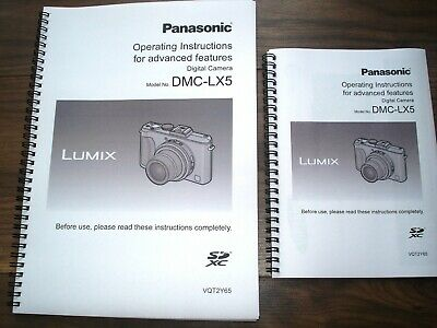 Panasonic Lumix LX5 *Full COLOUR* User guide Instruction manual PRINTED A4 or A5