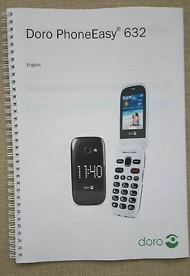 Doro Phone Easy 632 Printed Manual 68 pages Colour A5