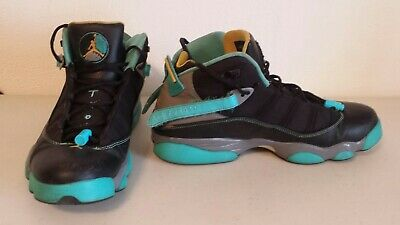 dbfce5d3a3c156 NIKE AIR JORDAN 6 Rings Black-Varsity Maize-Grey-Gamma Blue Sz 13 ...