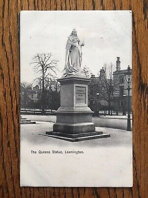 The Queens Statue Leamington Old Vintage Postcard
