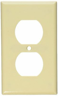Leviton, 86003, Duplex Receptacle Wall Plate (20/Bx),Ivory Color
