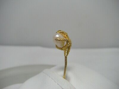 Antique Victorian 14K Gold Pearl Eagle Claw Stick Pin c1890