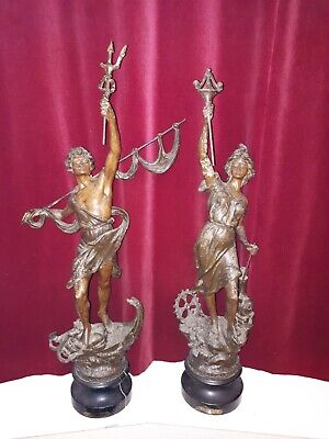 Pair of french Spelter Figures - 30 x inches high figures